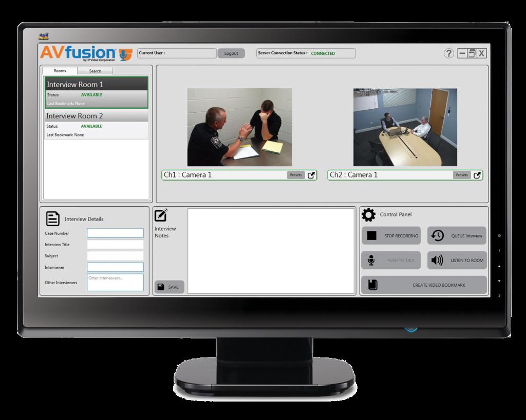 AV fusion on monitor